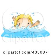 Royalty Free RF Clipart Illustration Of A Boy Drowning
