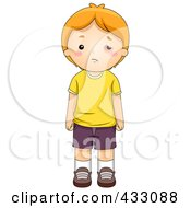 Royalty Free RF Clipart Illustration Of A Sad Boy With A Black Eye by BNP Design Studio
