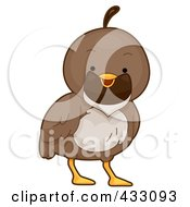 Royalty Free RF Clipart Illustration Of A Cute Baby Quail by BNP Design Studio