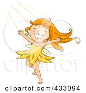 Royalty Free RF Clipart Illustration Of A Happy Summer Fairy