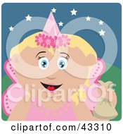 Clipart Illustration Of A Caucasian Girl Trick Or Treating On Halloween In A Fairy Princess Costume
