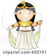 Royalty Free RF Clipart Illustration Of An Egyptian Girl by BNP Design Studio