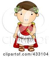 Royalty Free RF Clipart Illustration Of A Roman Boy by BNP Design Studio