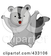 Royalty Free RF Clipart Illustration Of A Cute Baby Flying Squirrel by BNP Design Studio