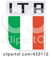 Royalty Free RF Clipart Illustration Of A Rugby Flag For Italy