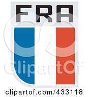 Royalty Free RF Clipart Illustration Of A Rugby Flag For France by patrimonio