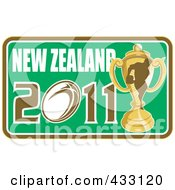 Royalty Free RF Clipart Illustration Of A Rugby New Zealand 2011 Icon 8