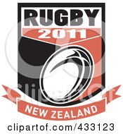 Royalty Free RF Clipart Illustration Of A Rugby New Zealand 2011 Icon 6