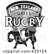Royalty Free RF Clipart Illustration Of A Rugby New Zealand 2011 Icon 4