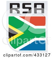 Royalty Free RF Clipart Illustration Of A Rugby Flag For South Africa
