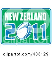 Royalty Free RF Clipart Illustration Of A Rugby New Zealand 2011 Icon 9