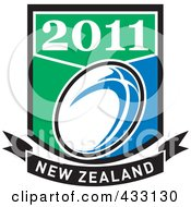 Royalty Free RF Clipart Illustration Of A Rugby New Zealand 2011 Icon 7