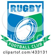 Royalty Free RF Clipart Illustration Of A Rugby Football Club Icon