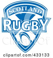Royalty Free RF Clipart Illustration Of A Rugby Scotland Shield