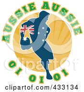 Royalty Free RF Clipart Illustration Of An Australian Rugby Player Passing