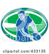 Royalty Free RF Clipart Illustration Of A Rugby Man 2