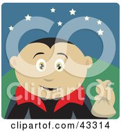 Clipart Illustration Of A Mexican Boy Trick Or Treating On Halloween In A Vampire Costume