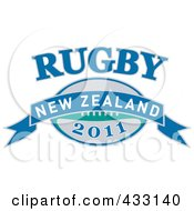 Royalty Free RF Clipart Illustration Of A Rugby New Zealand 2011 Icon 1