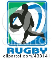 Royalty Free RF Clipart Illustration Of A Rugby Man 1