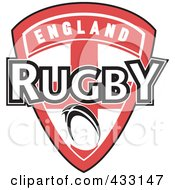 Royalty Free RF Clipart Illustration Of A Rugby England Shield