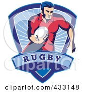 Royalty Free RF Clipart Illustration Of A Rugby Man 4