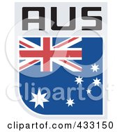 Royalty Free RF Clipart Illustration Of A Rugby Flag For Australia