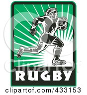 Royalty Free RF Clipart Illustration Of A Rugby Man 7