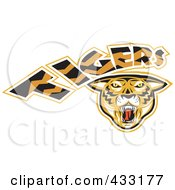 Royalty Free RF Clipart Illustration Of A Tigers Logo 2 by patrimonio