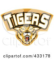 Royalty Free RF Clipart Illustration Of A Tigers Logo 1 by patrimonio