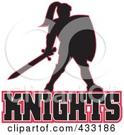 Royalty Free RF Clipart Illustration Of A Knights Logo 4