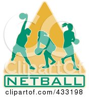 Royalty Free RF Clipart Illustration Of A Netball Logo by patrimonio