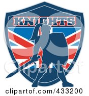 Royalty Free RF Clipart Illustration Of A Knights Logo 3
