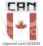 Royalty Free RF Clipart Illustration Of A Rugby Flag For Canada