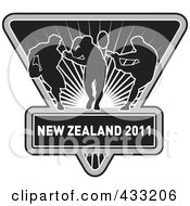 Royalty Free RF Clipart Illustration Of A Rugby New Zealand 2011 Icon 5