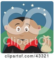 Clipart Illustration Of A Latin American Boy Trick Or Treating On Halloween In A Vampire Costume