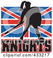 Royalty Free RF Clipart Illustration Of A Knights Logo 2