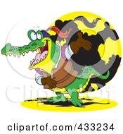 Actor Crocodile Bowing