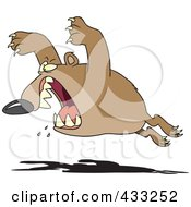 Royalty Free RF Clipart Illustration Of An Aggressive Bear Leaping