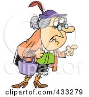 Royalty Free RF Clipart Illustration Of A Wise Old Caucasian Woman Giving Advice
