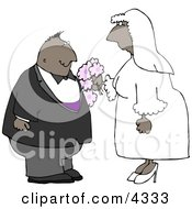 Ethnic Couple Getting Married Clipart