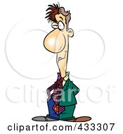 Royalty Free RF Clipart Illustration Of A Two Faced Cartoon Businessman