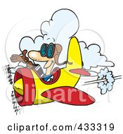 Royalty Free RF Clipart Illustration Of A Happy Pilot by toonaday
