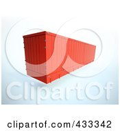 Royalty Free RF Clipart Illustration Of A 3d Red Shipping Container