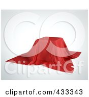 Royalty Free RF Clipart Illustration Of A 3d Red Cloth Over A Box Display