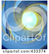 Royalty-Free (RF) Clipart Illustration Of A 3d Abstract Spiral With Light Shining Down From Above by Mopic