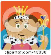 Clipart Illustration Of A Royal Hispanic Queen Holding A Staff