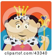 Clipart Illustration Of A Royal Mexican Queen Holding A Staff