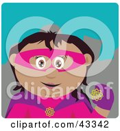 Clipart Illustration Of A Hispanic Super Hero Woman In Costume