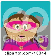 Clipart Illustration Of A Latin American Super Hero Woman In Costume