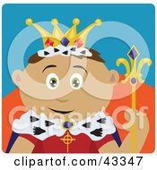 Clipart Illustration Of A Royal Hispanic King Holding A Staff